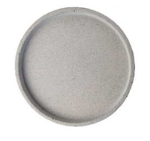 Zakkia Concrete Round Tray  - Natural
