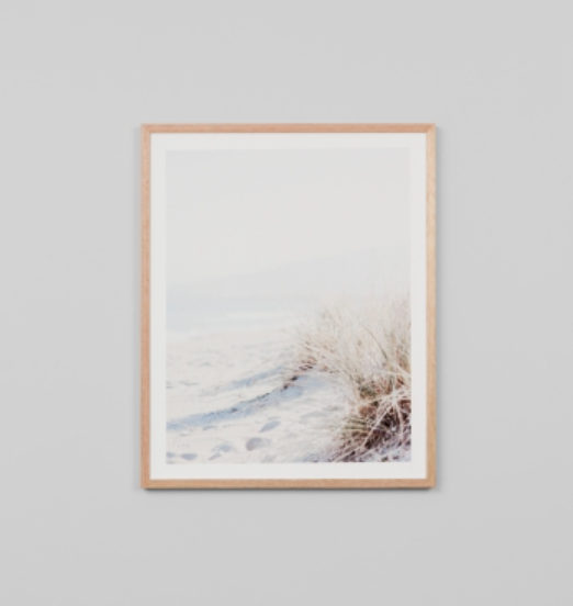 Middle Of Nowhere - Beach Grass Portrait Framed Print
