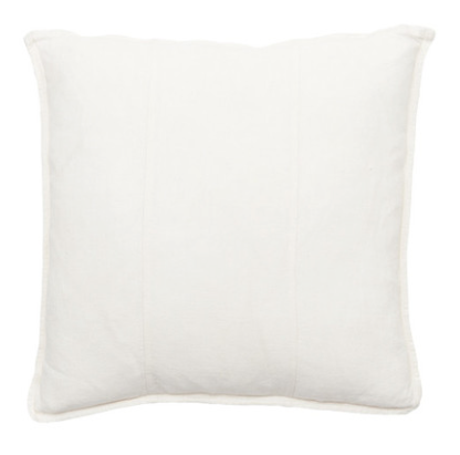 Eadie Lifestyle - Linen Cushion - White - 50cm x 50cm