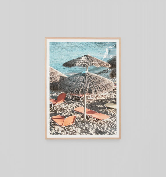 Middle of Nowhere - Holiday In Greece Framed Print