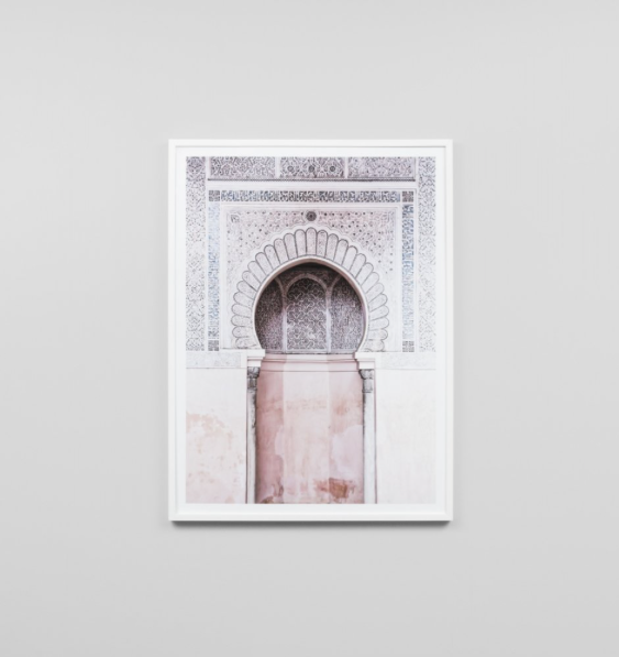 Middle of Nowhere - Moroccan Arch Framed Print