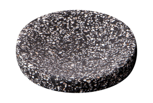 Zakkia Terrazzo Dimple Tray - Medium Black