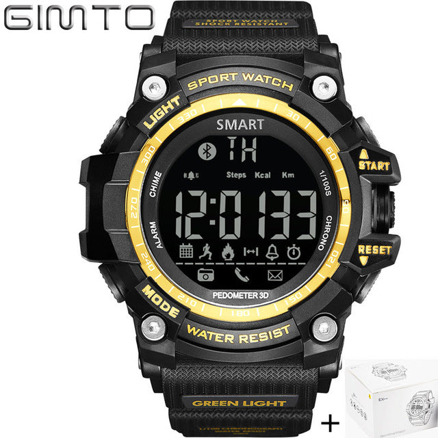 Gimto Brand LED Outdoor Electronic intelligent Wristwatch Waterproof Sport Digital Smart Watch Pedometer WristWatch Men - Always Happy Shopping