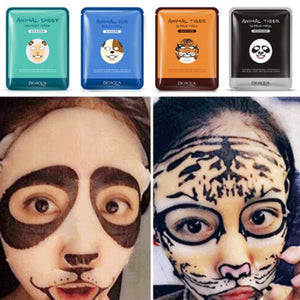 4 PCS BIOAQUA Skin Care Sheep/Panda/Dog/Tiger  Face Masks - Always Happy Shopping