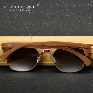 EZREAL Half Wooden Sunglasses Men /Women - Always Happy Shopping