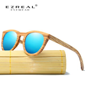 EZREAL 100% Natural Zebra Wooden Sunglasses - Always Happy Shopping