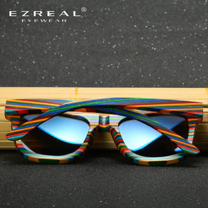 EZREAL Polarized Wooden Sunglasses Men Bamboo - Always Happy Shopping