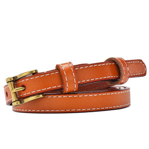 Slim belt for women of genuine leather, model 2018 - Always Happy Shopping