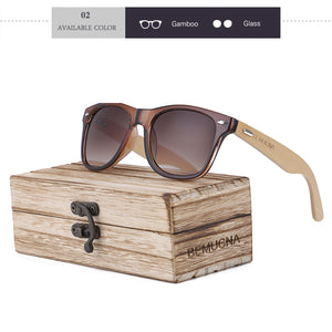 Stylish designer sunglasses made of bamboo, unisex - Always Happy Shopping