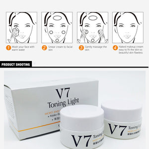 2PCS OneSpring V7 Day Night Cream Moisturizing Facial Cream Anti Aging Whitening Skin Ageless Anti Wrinkles Lifting Skin Care - Always Happy Shopping