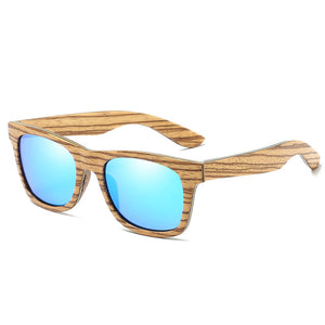 EZREAL New Polarized Brand Mirror Eyewear Wooden Sun Glasses Women Men - Always Happy Shopping