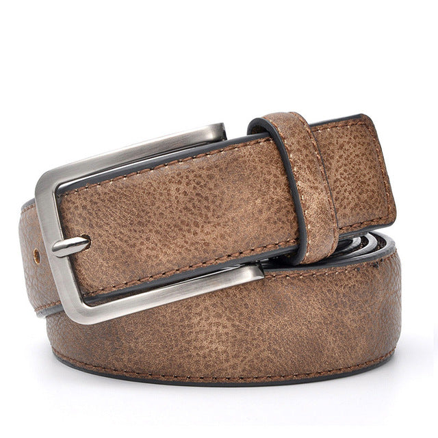 Stylish men's classic belt made of genuine leather, model 2018 - Always Happy Shopping