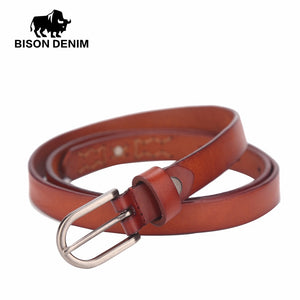 Belt for women of genuine leather, classic style, usual large and tall sizes - Always Happy Shopping