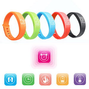 New Smart Wristband W5 Smart Bracelet Pedometer Sleep Tracker Thermometer Smart Wristband Fitness Tracker Smart watch - Always Happy Shopping