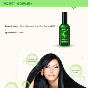 50ml BIOAQUA Natural Olive Essence Hair Care Essential Oils Moisturizing Deep Repair Frizz Deep Conditioner For Hair Restoration - Always Happy Shopping