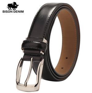 Men's Classic Dress Leather Belt, genuine leather, Regular Big & Tall Sizes - Always Happy Shopping