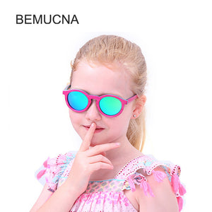 Baby sunglasses unisex in a frame of bamboo, model 2018 - Always Happy Shopping