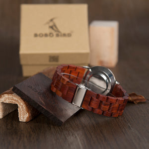Elegant mens watch with a strap made of wood, model 2018 - Always Happy Shopping