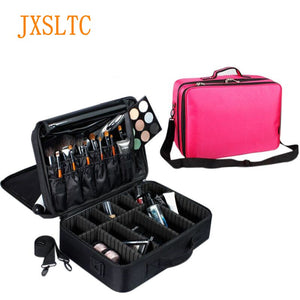 Neceser Travel Portable Woman Cosmetic Bag Beautician suitcase for Makeup Organizer Waterproof professional big Makeup bags - Always Happy Shopping