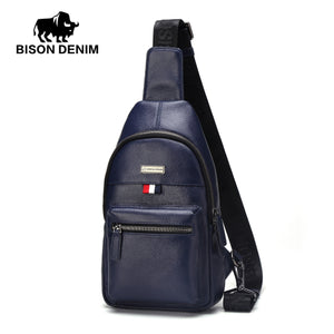 Men's shoulder bag made of genuine leather - Always Happy Shopping