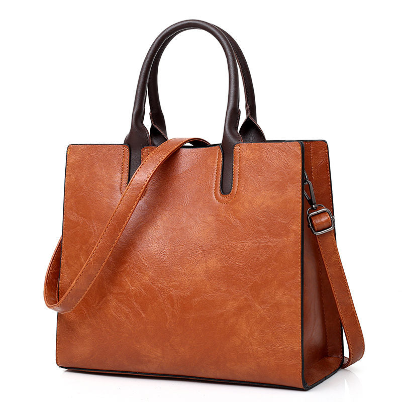 Stylish womens genuine leather handbag - Always Happy Shopping