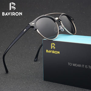Fashionable retro-sunglasses in metal frames, unisex - Always Happy Shopping