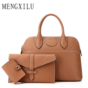 Set of leather bags for women of 3 items - Always Happy Shopping