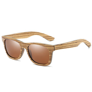 EZREAL Brand Mirror Eyewear Natural Handmade Wooden Sun Glasses Men - Always Happy Shopping