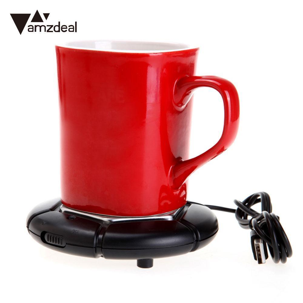 AMZDEAL Portable Coffee Tea Beverage Tray Pad USB Warmer Mat Heater USB Heat Preservation Mat Warm Keep Drink Warm 40-80C - Always Happy Shopping