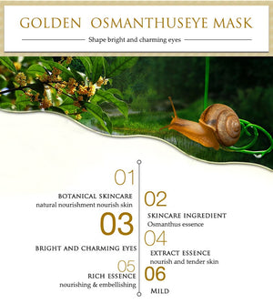 80 pcs/ bottle BIOAQUA Gold Osmanthus eye mask Nourish Moisturizing Gentle skin care Women - Always Happy Shopping