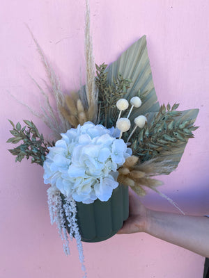 Sage Green Dried Arrangement