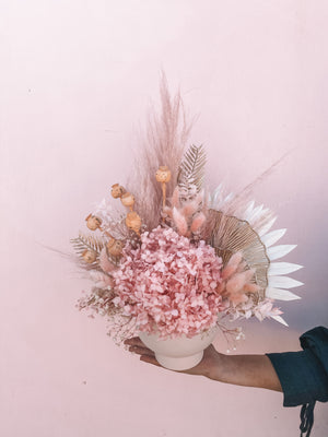 ROSE GOLD DRIED VASE ARRANGEMENT
