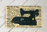 Singer Featherweight Luggage Tag (Rectangular)