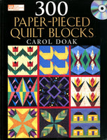 300 Paper-Pieced Quilt Blocks + CD