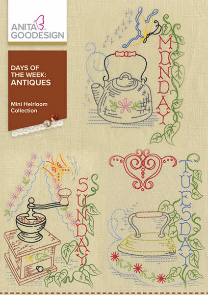 Anita Goodesign Antique Days of the Week