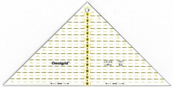 Omnigrid Quarter Square Triangle Ruler