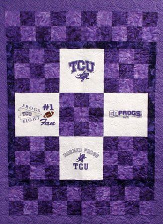TCU Horned Frogs Checkerboard Quilt