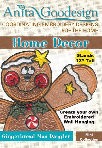 Anita Goodesign Gingerbread Man Dangler