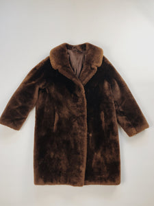 Plush Chocolate Coat