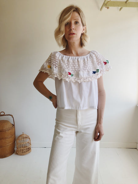 Cotton Embroidered Blouse