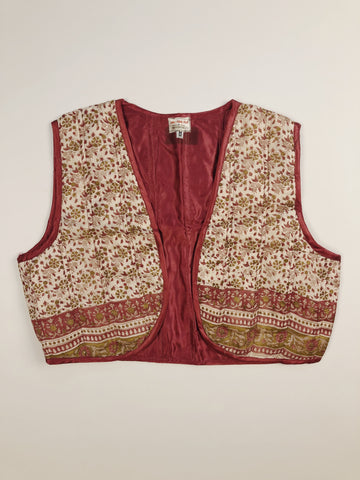Indian Silk Quilted Vest #2