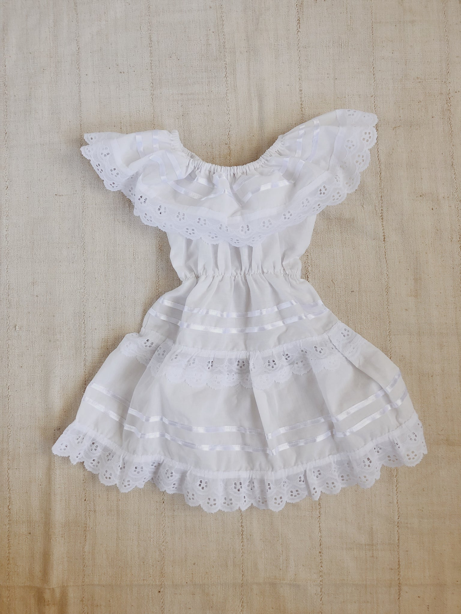 White Mexican Dress - Size 18-24m