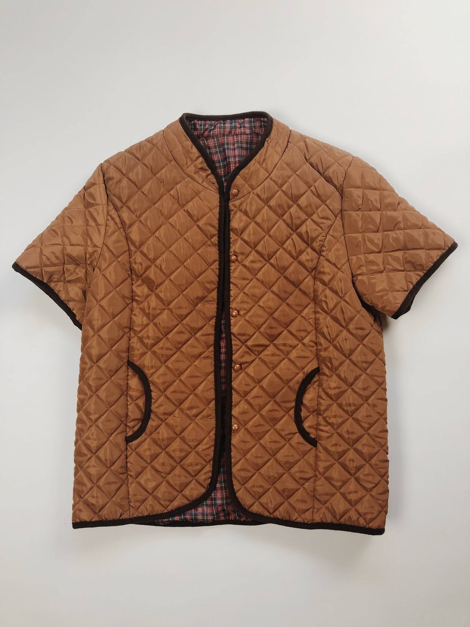 Quilted Short Sleeved Jacket