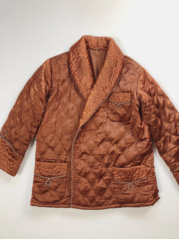Quilted Satin Coat