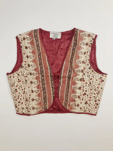 Indian Silk Quilted Vest #3