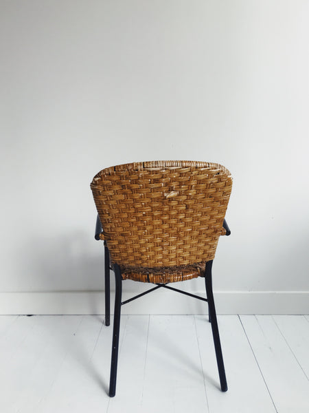 Metal and Wicker Child's Chair