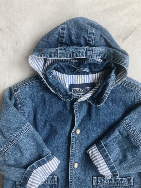 Lands End Denim Coat, size 4