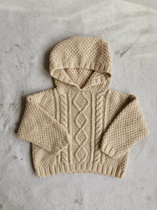 Cable Knit Hoodie, 18-24m