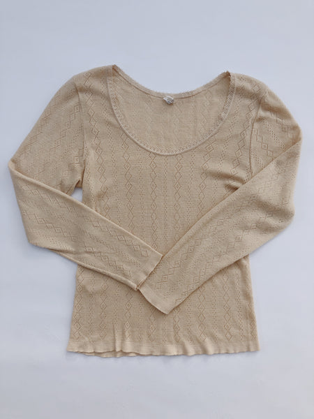 Wool Pointelle Sweater