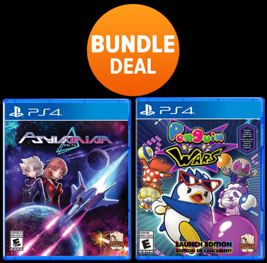 PS4 LIMITED EDITION SOFT BUNDLE PACK - PENGUIN WARS & PSYVARIAR DELTA
